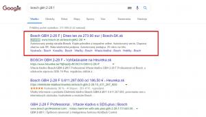 Produktová reklama Google Ads